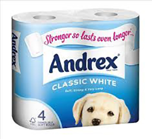 Andrex 2 ply toilet roll in packaging