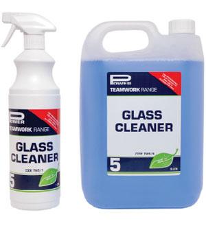 1L & 5L bottles of Teamwork 5 Glass Cleaner