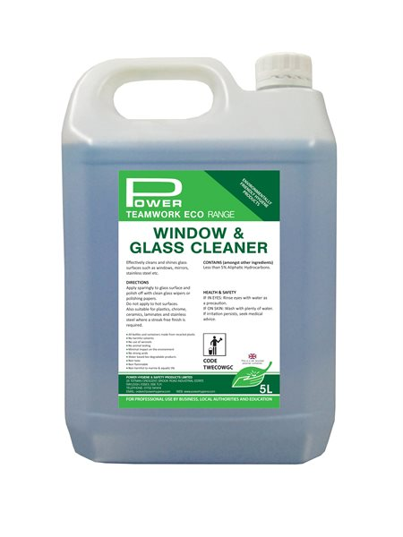 5L bottle of Teamwork ECO Window and Glass Cleaner