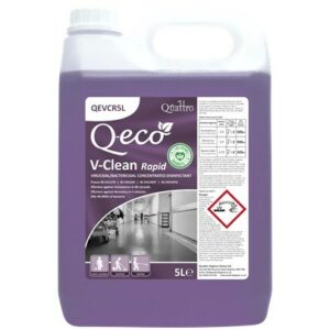 5 litre bottle of V-Clean Rapid Concentrated Disinfectant